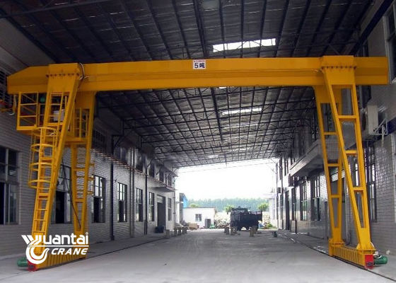 Economic Single Girder Gantry Crane Steady Travelling 24 Months Warranty